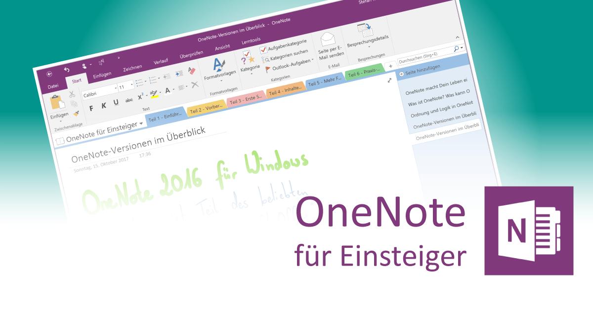 OneNote-Versionen im Vergleich