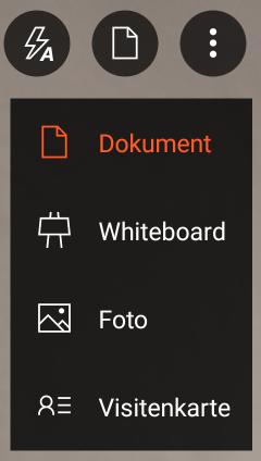Scan-Funktion in Office Lens auswählen