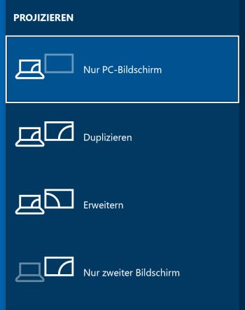 Bildschirm projizieren in Windows 10