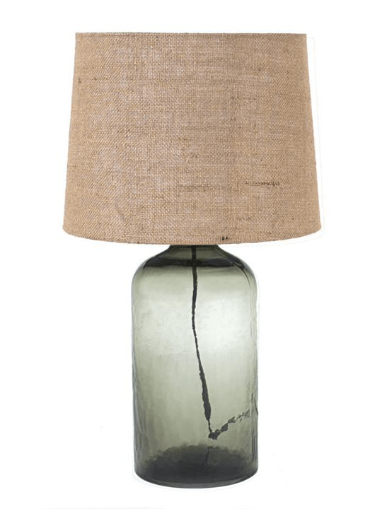Glass Burlap Table Lamp - One of a Find Furniture and Accents - Michigan