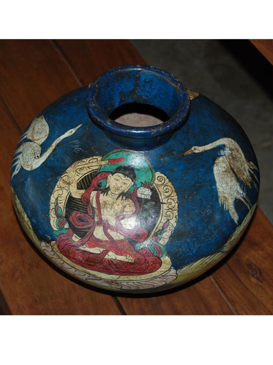 Handpainted iron pot
