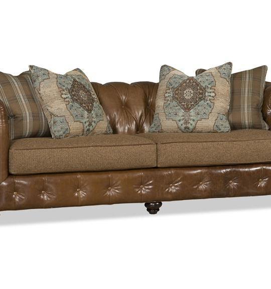Cameron Leather Stationary Sofa 2