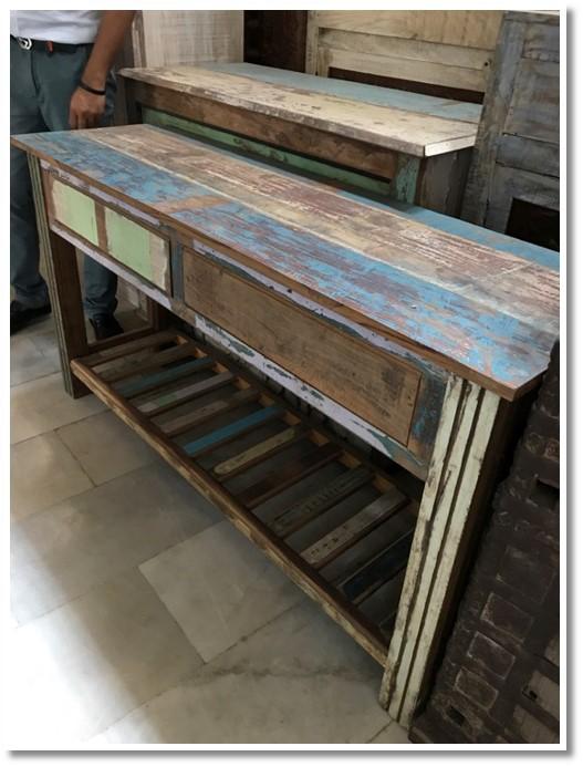 Sofa Table with Shelf (010) Image