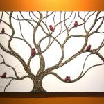 Tree Full Of Birds Painting Very Textured Branches Sculpted Wall Art Original Home Decor Unique Oneofakind By Nathalie Van 30x20 Art By Nathalie Van