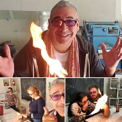 Glass blowing class auction