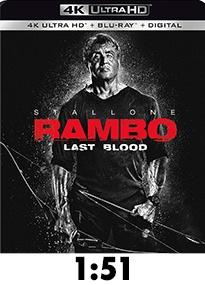 Rambo: Last Blood 4k Review