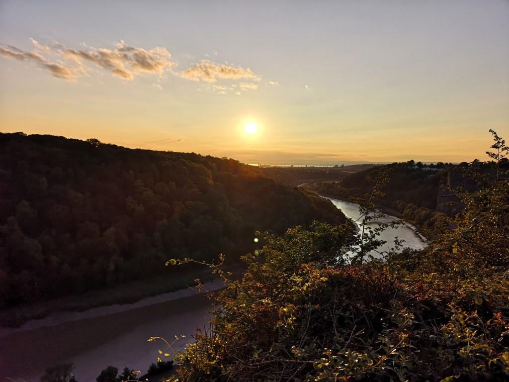 Sunset over the River Avon (Bristol Downs)