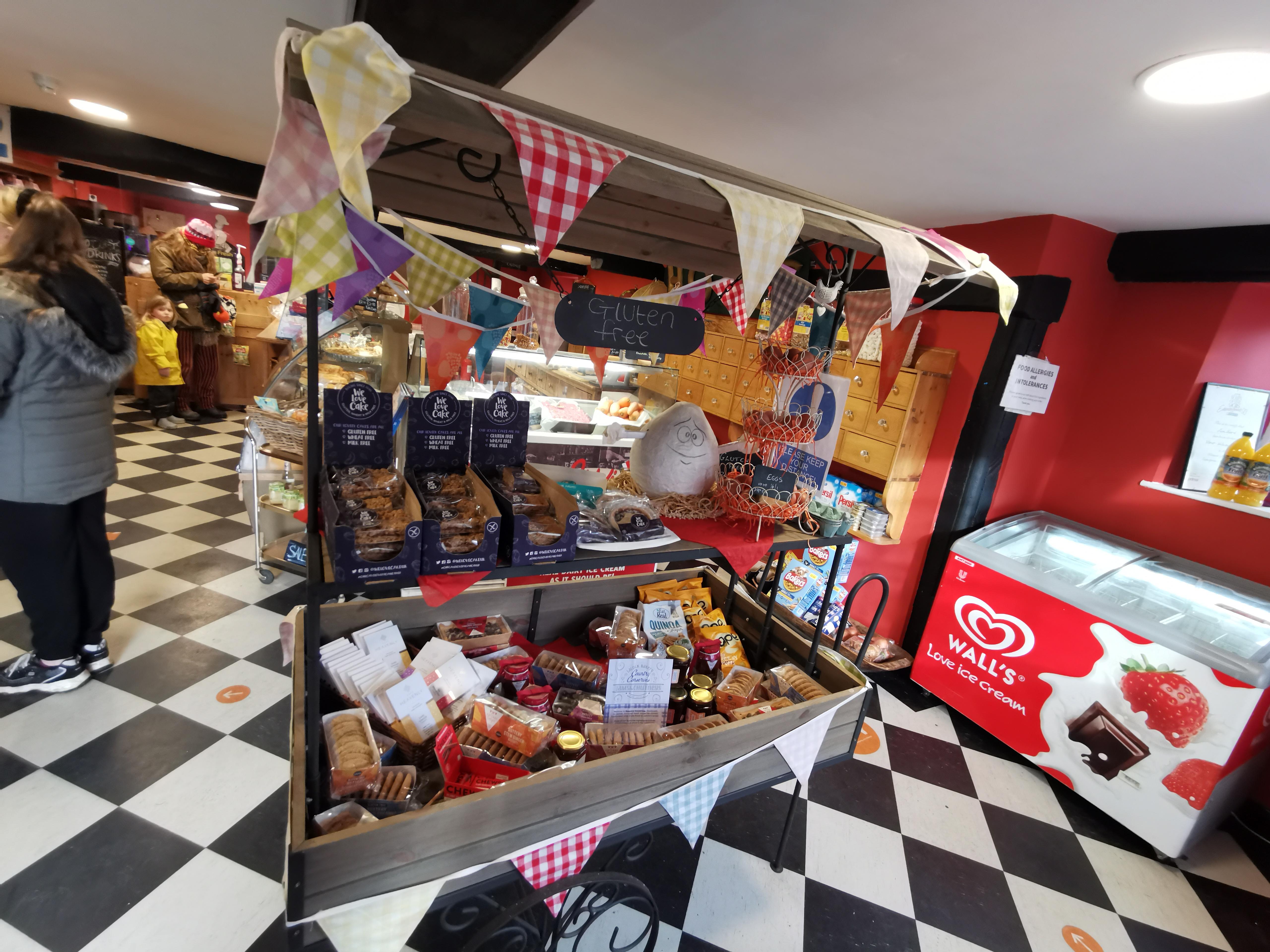 Inside the shop in Lacock village