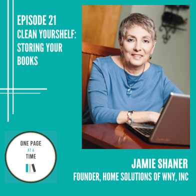 Episode 21: Clean yourshelf: storing your books with Jamie Shaner