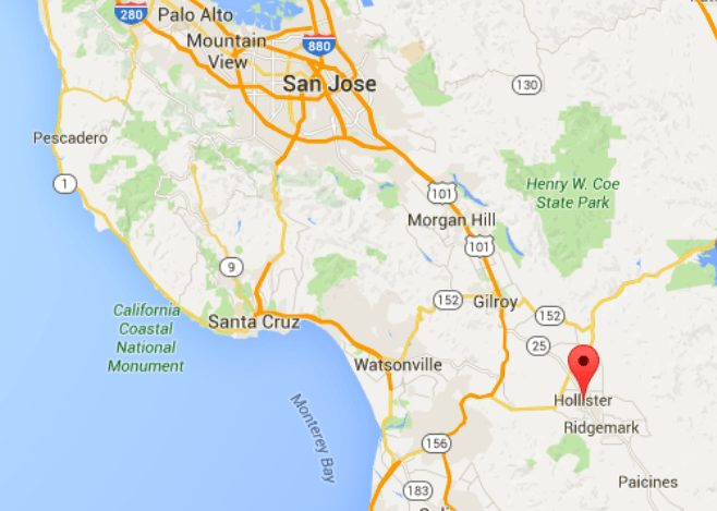 Where is Hollister California at On A Map - netwallcraft.com