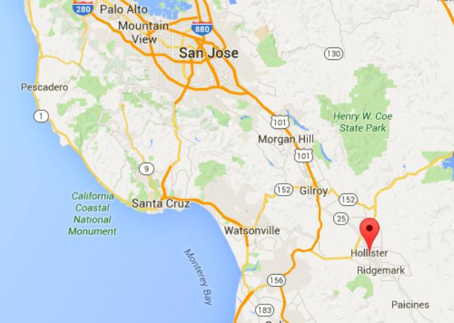 Hollister Riot Hollister California Map One Percenter Bikers