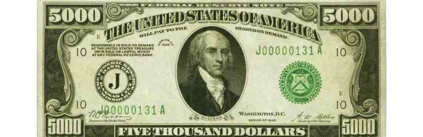 $5000 dollar bill