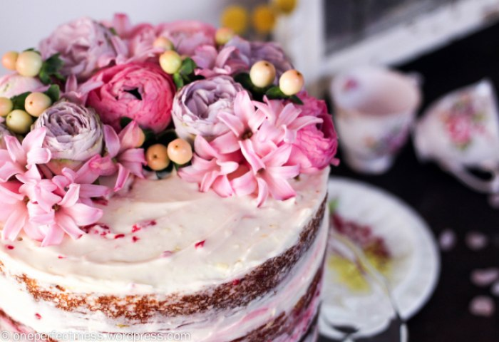Lemon And Raspberry Naked Layer Cake One Perfect Mess