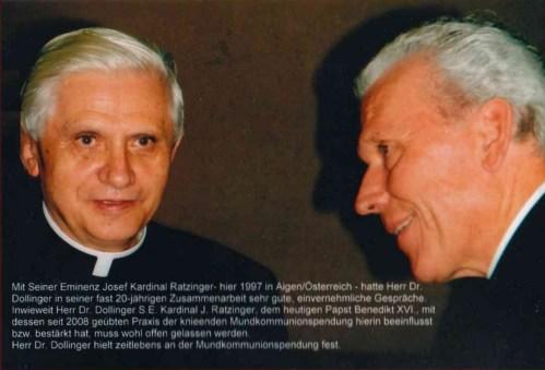 Cardinal Ratzinger with his friend, Fr. Ingo Dollinger; 1997