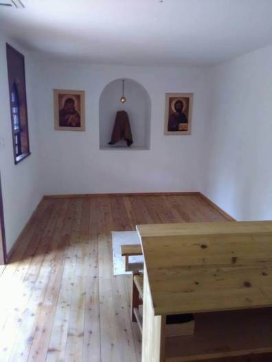 Adoration chapel set aside for guests and visitors, 24 hours a day.