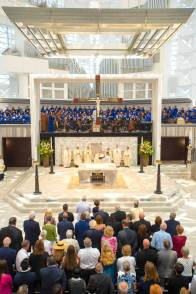 Bishop Kevin W. Vann of the Roman Catholic Diocese of Orange leads the Christ Cathedral Solemn Mass of Dedication on Wednesday July 17, 2019, in Garden Grove. Over 2000 people attended the dedication.(Photo by Mark Rightmire, Orange County Register/SCNG)