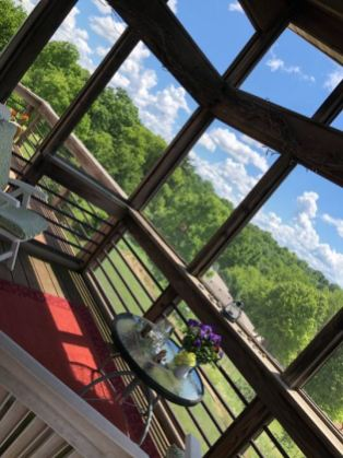 Scott & Elizabeth - the view off our deck ...overlooking the valley in beautiful Mineral Point, Wisconsin