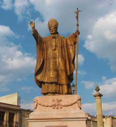 Statue of Pope St. John Paul ll to commemorate his 1990 visit to the shrine.