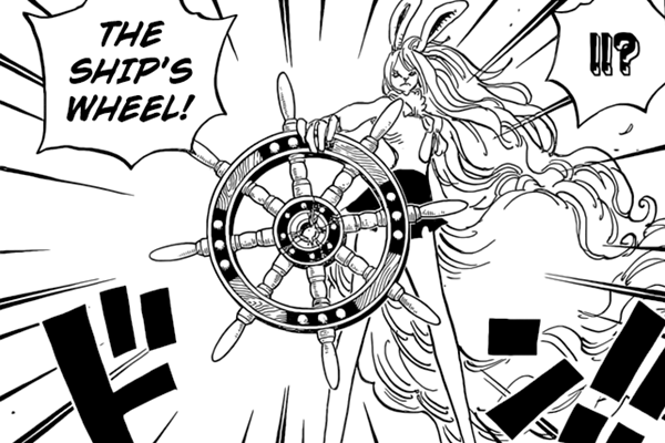Carrot destroys the helm of Daifuku's ship.