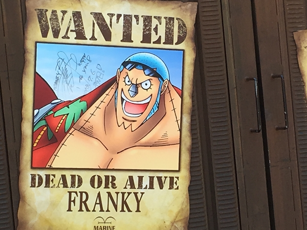 Wanted poster of Cyborg Franky.