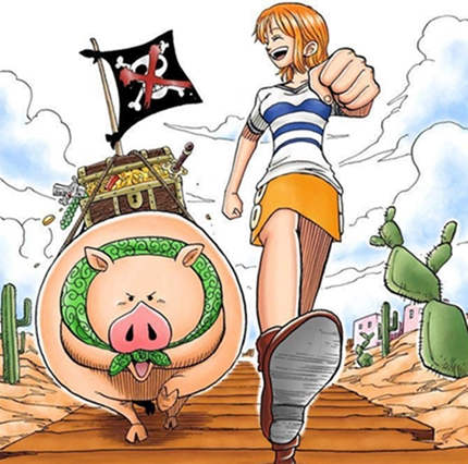 "Manga one piece 10 ""The Incident at the Bar"" Orange Town"