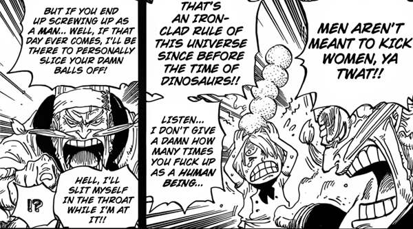 SANJI was taught chivalry that men are not meant to kick women from ZEFF