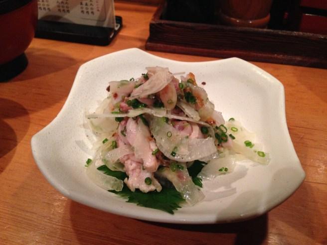 Raw chicken salad