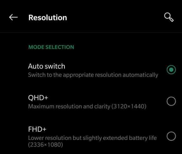 Drop screen resolution to increase the battery life in OnePlus 7