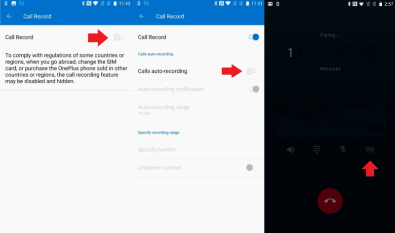 how to record phone calls on OnePlus