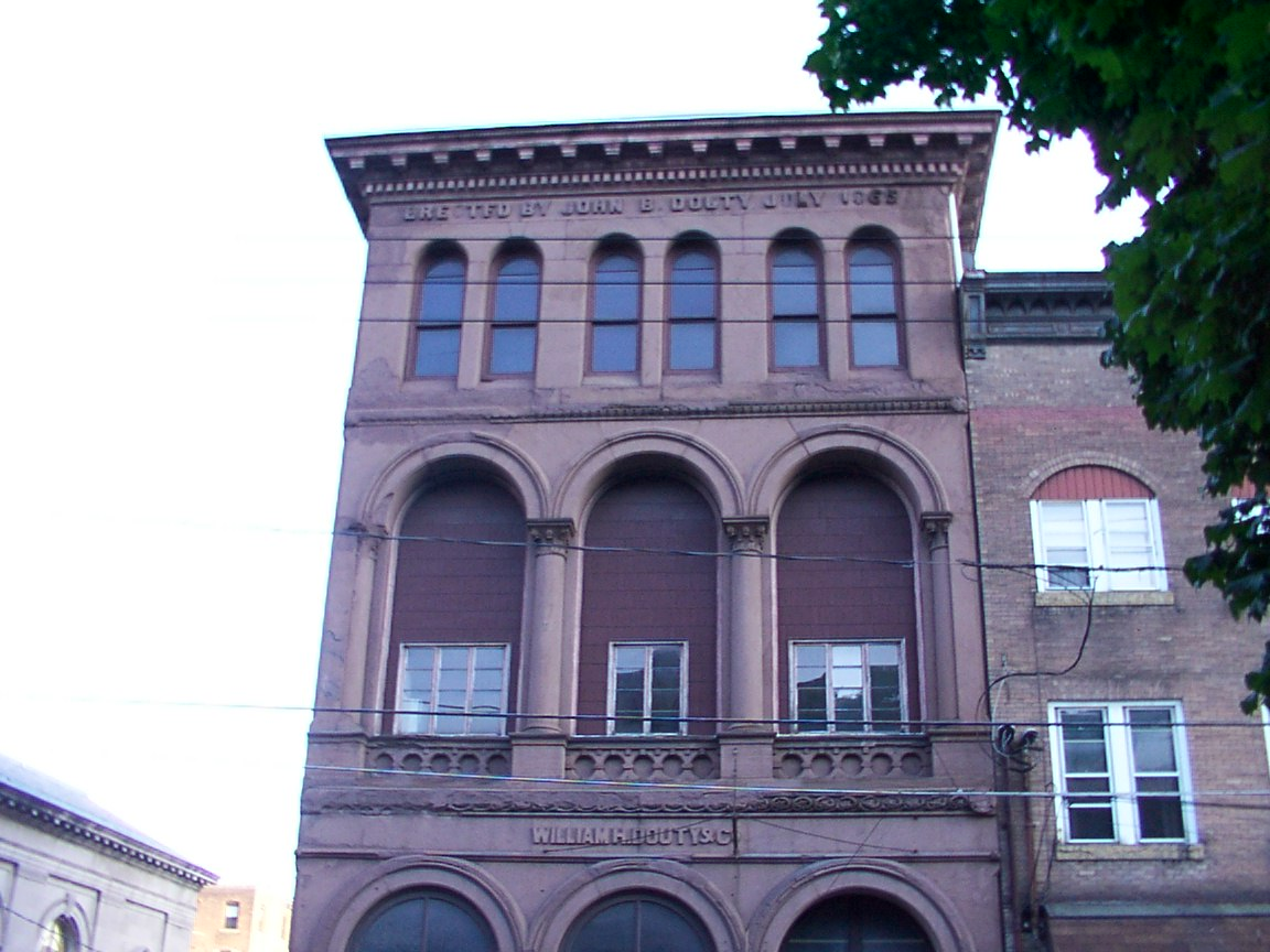 Upper view of the Douty Building