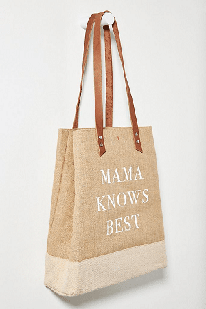 Mama Knows Best Tote Bag - Mothers Day Gift
