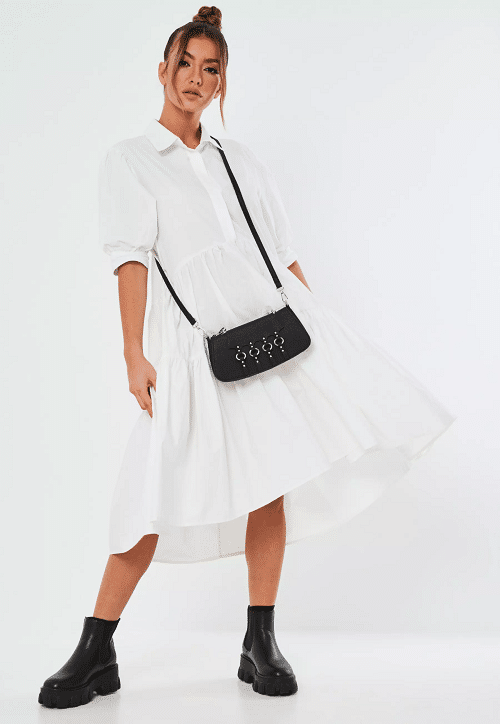 White Dress Fall Outfit
