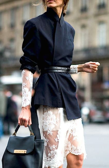 Ready For Fall-White Dress-Blazer-Belt