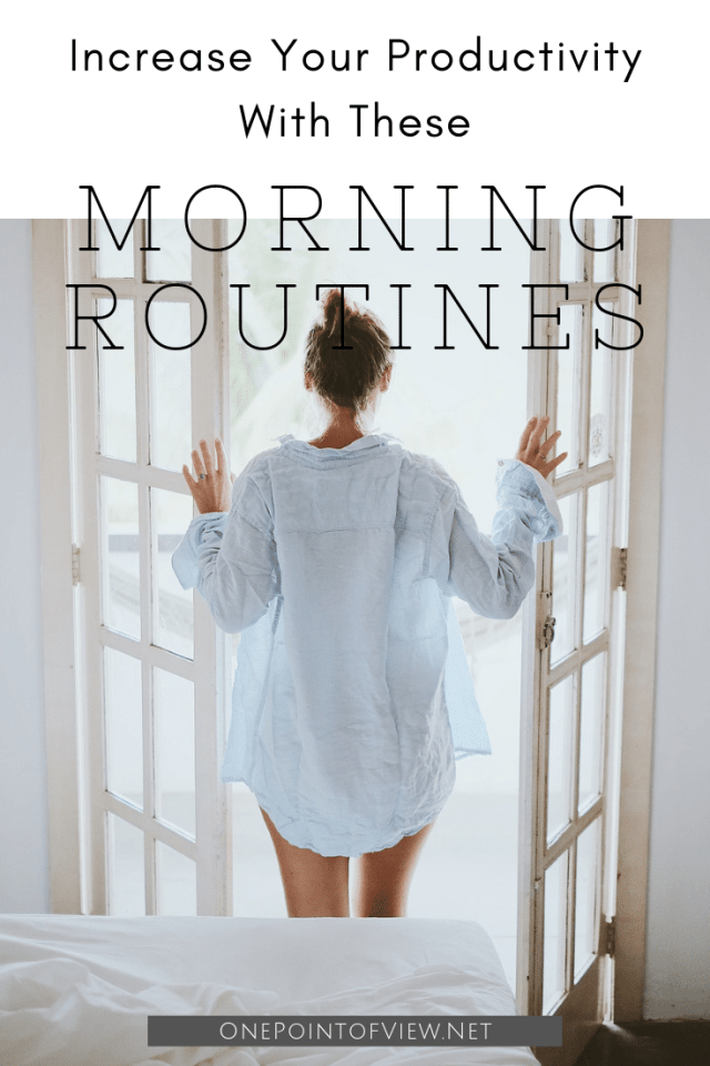 It's not what we do once in a while that shapes our lives, it's what we do consistently. Increase your productivity with these morning routines. #dailyroutines #productivity