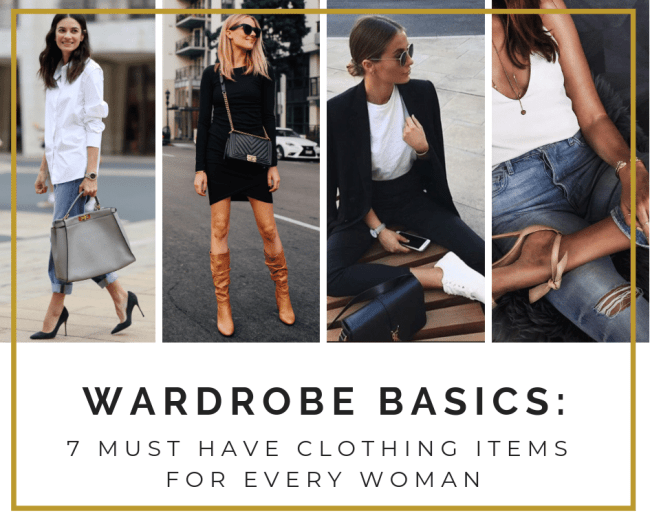 Wardrobe Basics-7 Must Have Clothing Items for Every Woman - OnePointofView.net