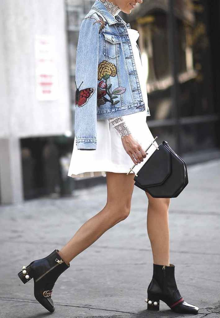 Ready for Fall: Stylish Ways To Accessorize Your Little White Dress: Add a Cozy & Comfortable Layer