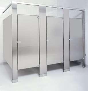 Brushed Stainless Steel Bathroom Stalls
