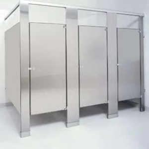 Brushed Stainless Steel Bathroom Stalls