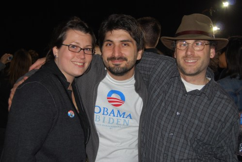 Shannon, Me and Mike at the Obama Rally 2008