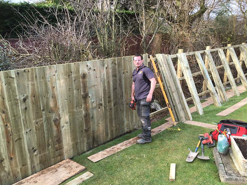 6ft fence installed