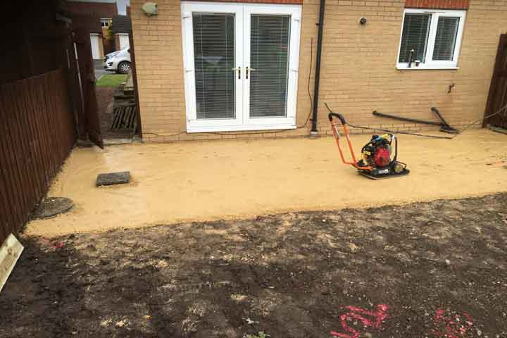 installing natural stone patio