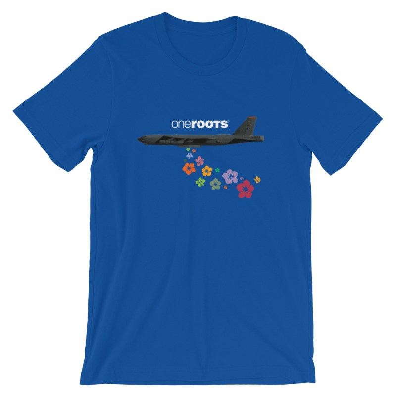 oneROOTS™ - Flower Bomber - T-Shirt - True Royal