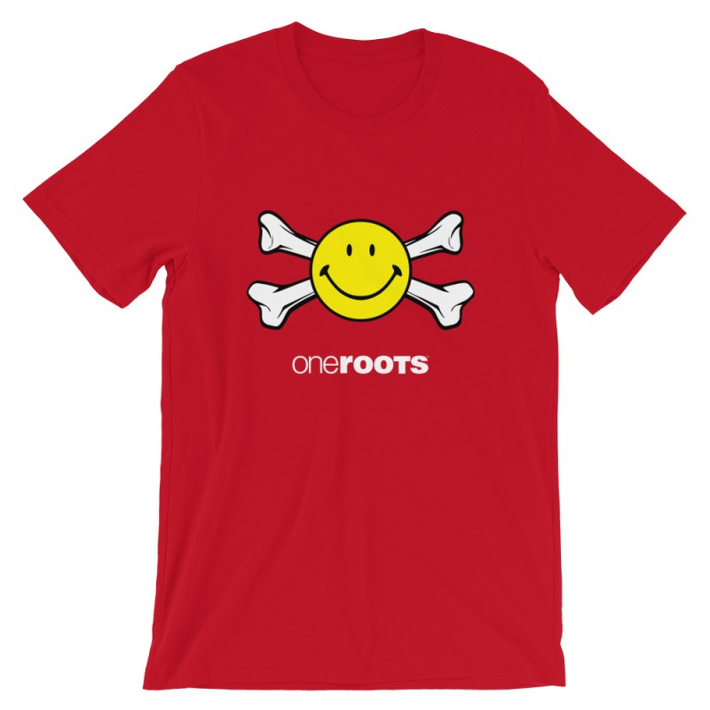 oneROOTS™ - Smile & Bones - T-Shirt - Red