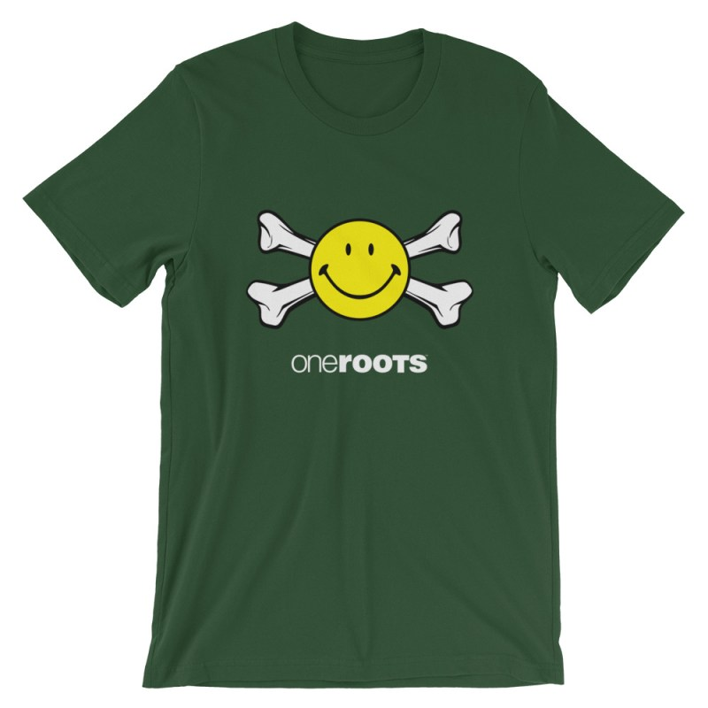 oneROOTS™ - Smile & Bones - T-Shirt - Forest