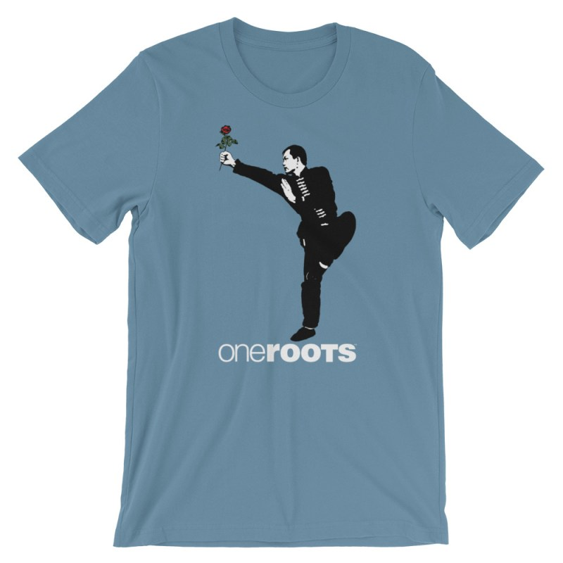 oneROOTS™ - Shaolin Rose - T-Shirt - Steel Blue
