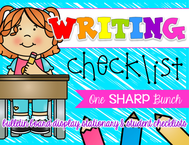 http://www.teacherspayteachers.com/Product/Writing-Checklist-1400986