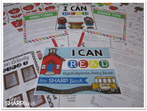 I Can Read Poetry Binders {Poem of the Week Activities}