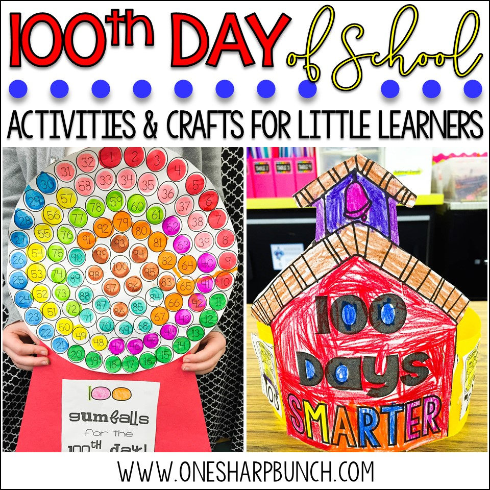 100 days craft ideas 100th day of school activities crafts amp freebies 3287