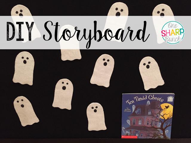 Step-by-step DIY felt board and felt ghosts storyboard!