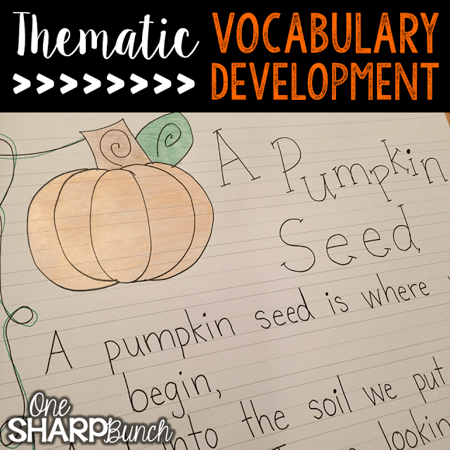 Do your student struggle with learning new vocabulary words? Check out these tips for building vocabulary and making abstract words more concrete! Plus, there are a variety of pumpkin ideas perfect for pumpkin week, like this life cycle of a pumpkin rhyming poem!